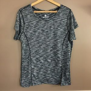 [90 Degree by Reflex] Gray Athletic Tee